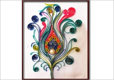 Quilling Art - How to Make a Vibrant Peacock Feather?