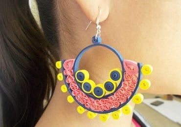 Quilling Earrings DIY
