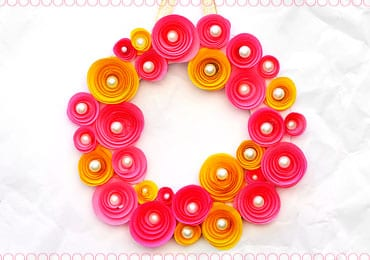 How To Make DIY Rolled Paper Roses Wreath?