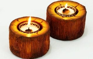 DIY Wooden Candles for Christmas Home Decoration