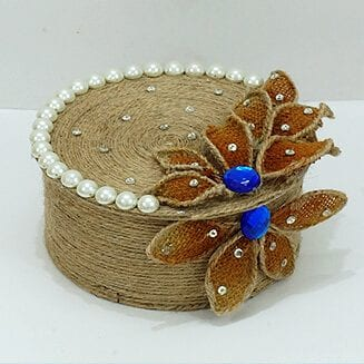 DIY Jewellery Box Rope Craft