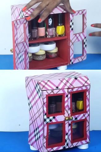 How to Make a DIY Cupboard from Old Box